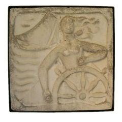 "A Wall Mounted Cast Concrete Art Deco Plaque ""Sailing"""