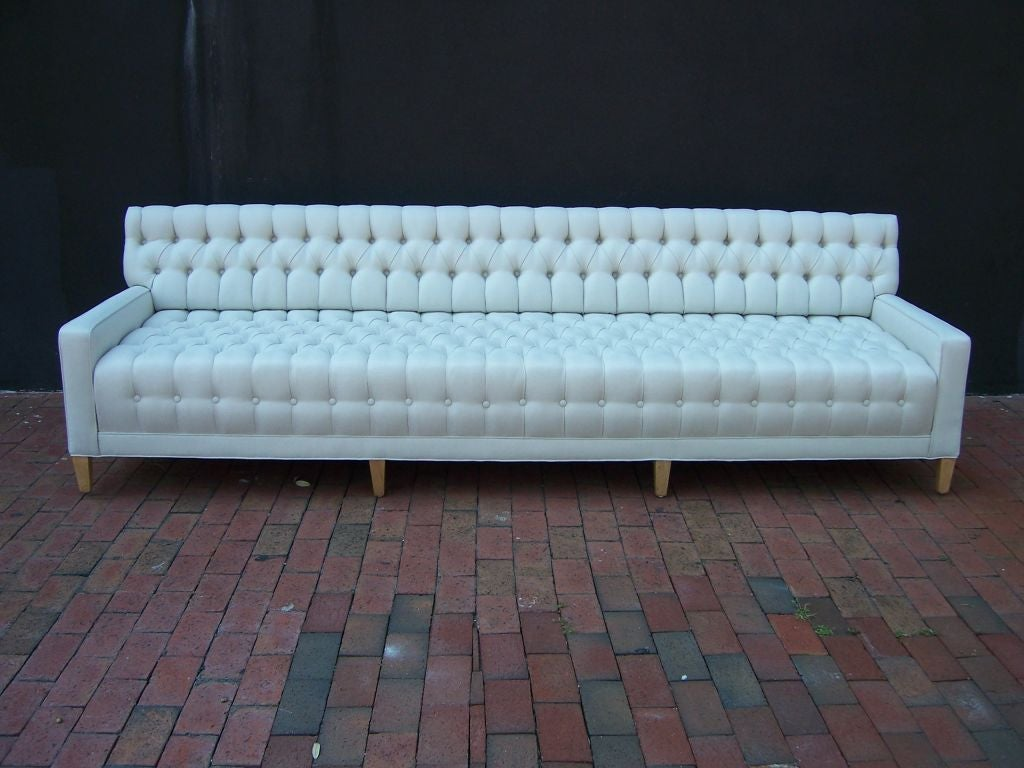 A Spectacular Tufted 9 Foot Long Sofa At 1stdibs