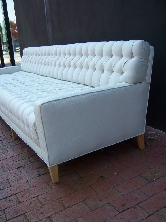 a spectacular tufted 9 foot long sofa at 1stdibs. Black Bedroom Furniture Sets. Home Design Ideas