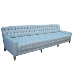 A Spectacular Tufted 9 Foot Long Sofa