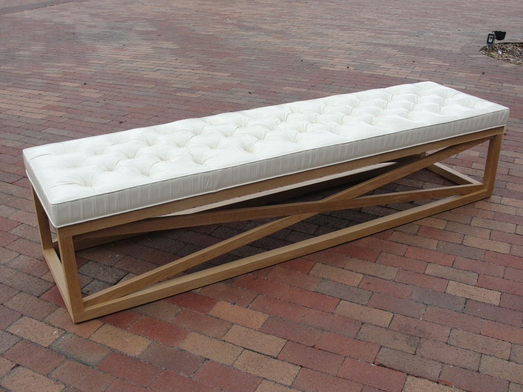 Extra Long Tufted Bench Ottoman At 1stdibs