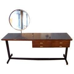 Italian Deco Vanity Desk w/ Mirror