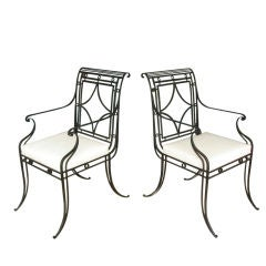Pair of Iron Garden Chairs