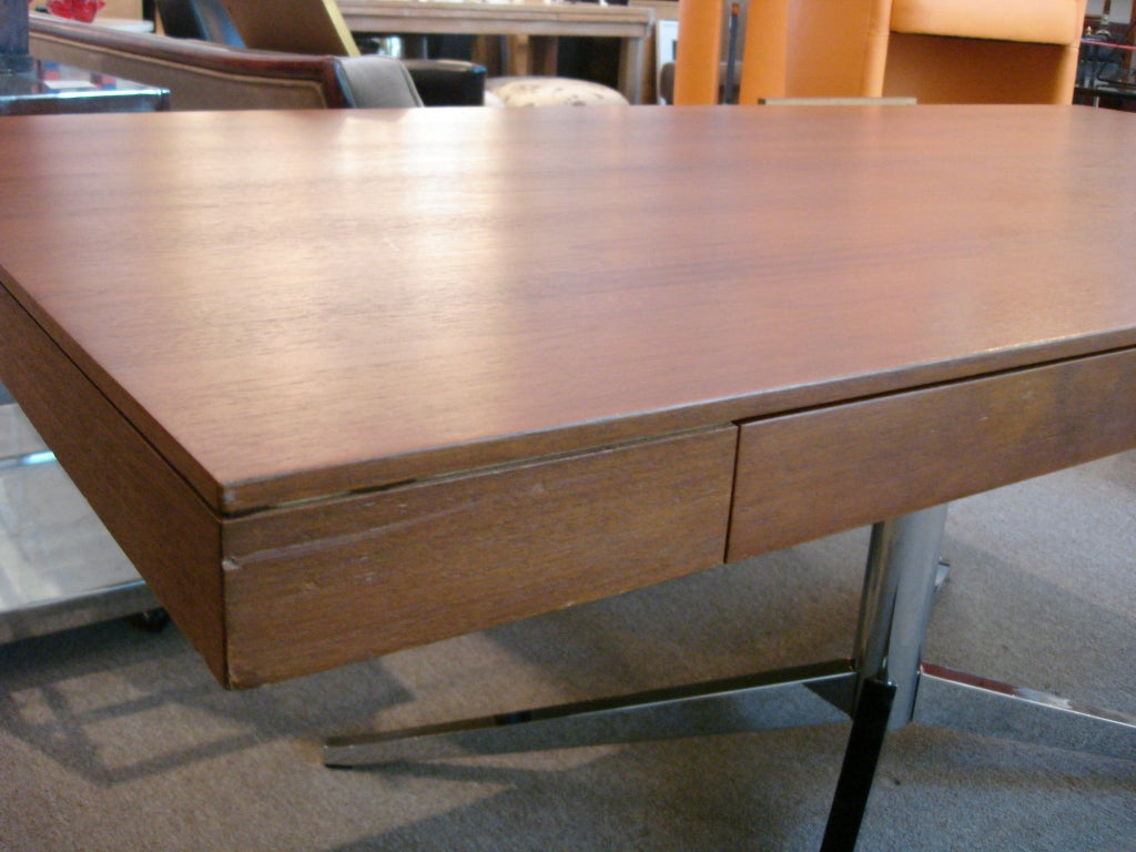 20th Century Vintage Florence KNOLL Partners Desk (Original Label) For Sale