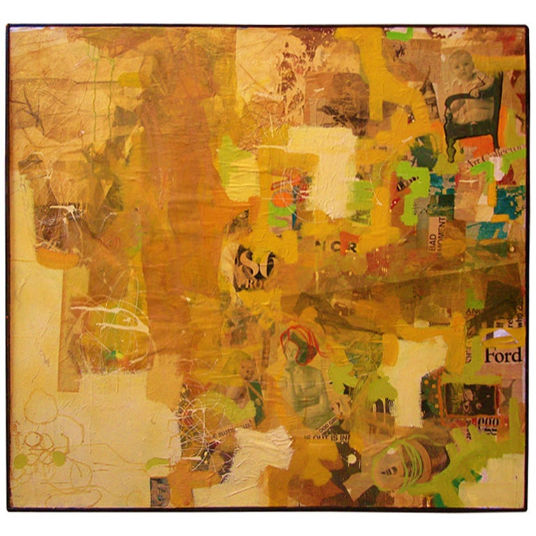 American Mixed-Media Collage Art by Tom Marchin For Sale