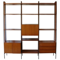 An Important Vintage Italian Three-Section Room Divider/Wall Unit