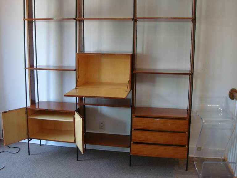 an important vintage italian three section room divider