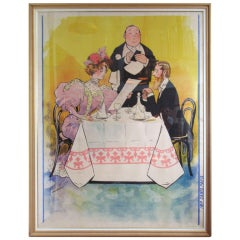 Belle Epoque Large Format Lithograph by Albert Guillaume