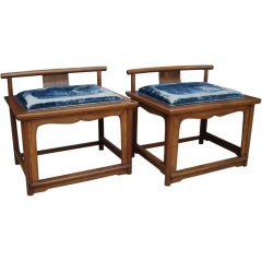 Turn of the Century Japanese Low Chairs