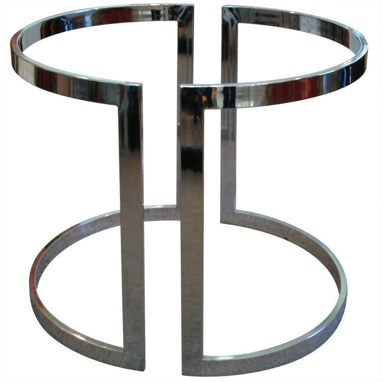 Chrome Semi Circle Table Bases at 1stdibs : XXX832813499795392 from www.1stdibs.com size 768 x 768 jpeg 50kB