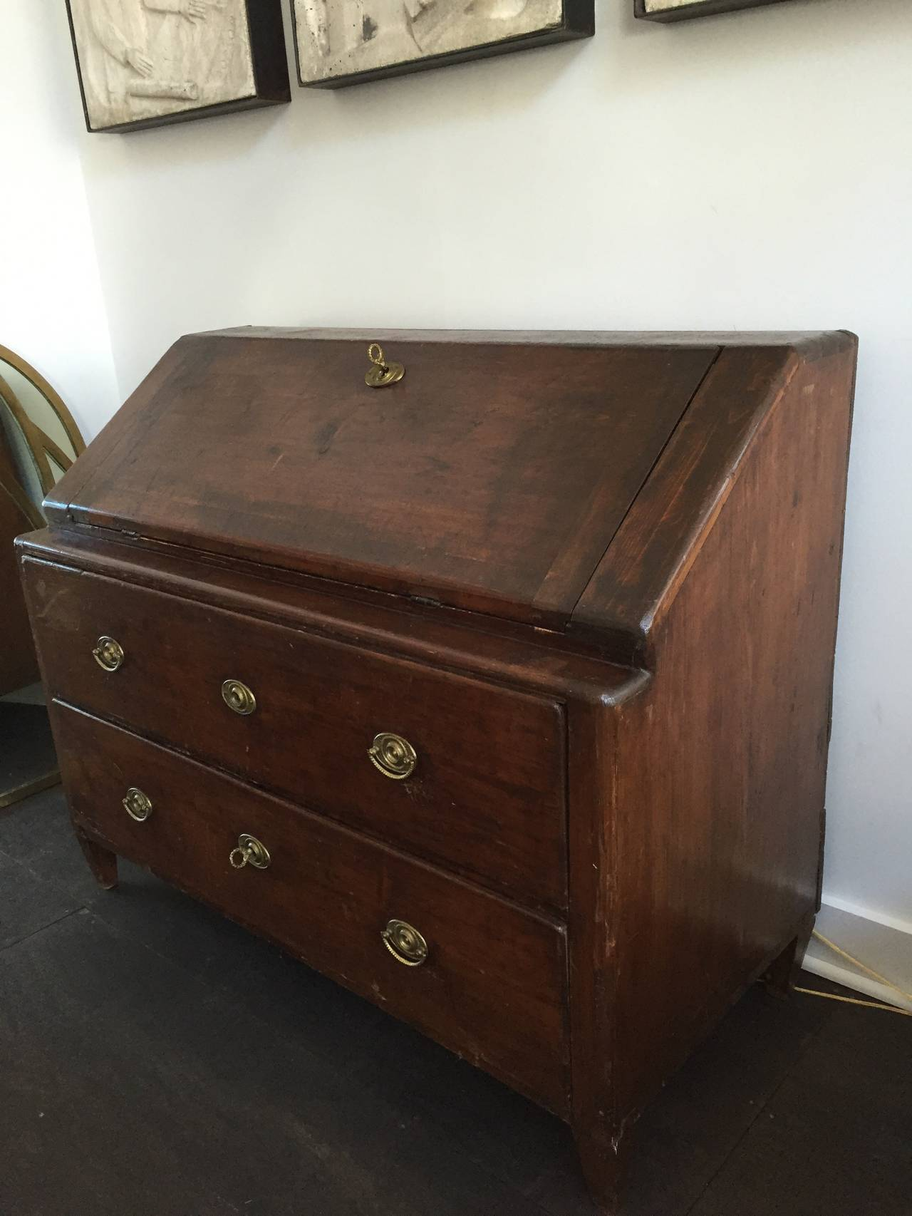 19th Century Secretary with Drop Down Desk For Sale at 1stdibs