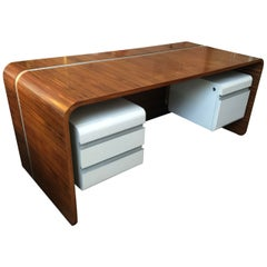 Original Michel Boyer Waterfall Desk for the Banque Rothschild, Paris