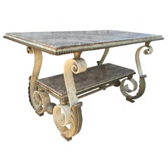 Scrolled Forged Iron Table Gilbert Poillerat