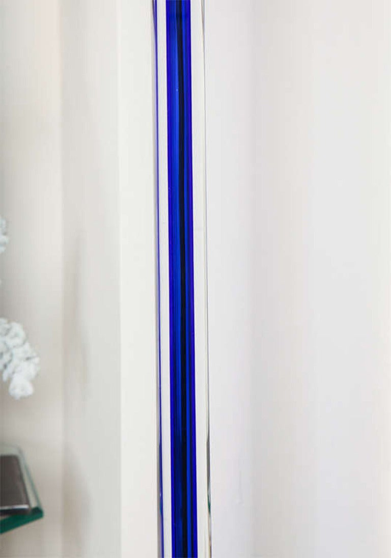 Signed Venini Vintage Murano Glass Floor Lamp, Signed In Good Condition For Sale In East Hampton, NY