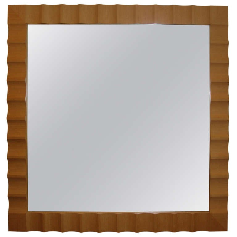 Wave framed oversized wall floor mirror for sale at 1stdibs for Framed floor mirror