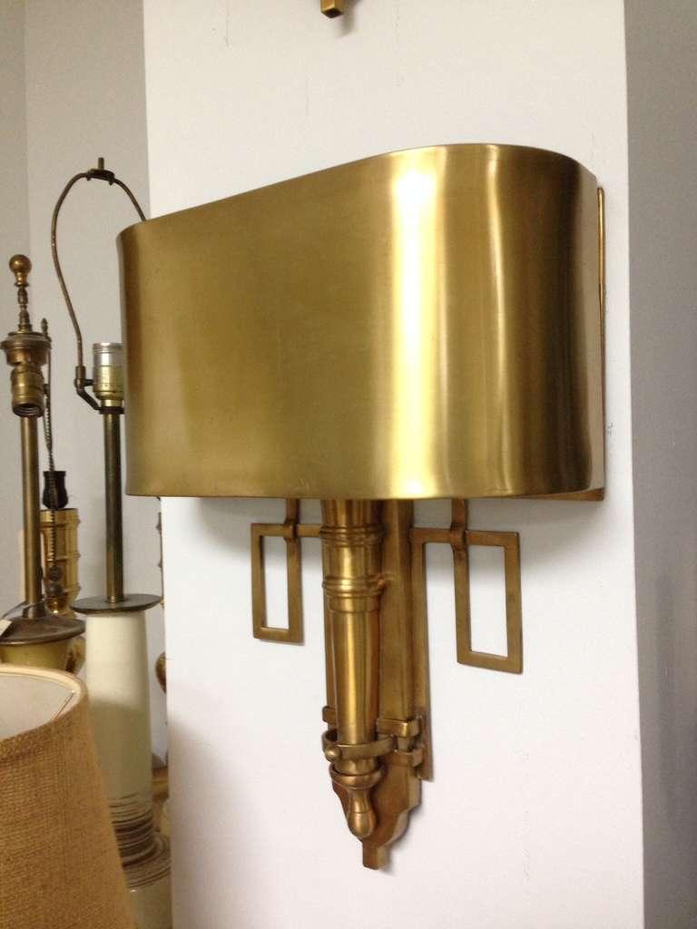 Pair of Elegant Brass Wall Sconces Attrib. Maison Charles at 1stdibs