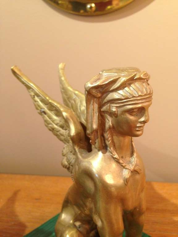 20th Century Pair of Antique Egyptian Sphinx Sculptures For Sale