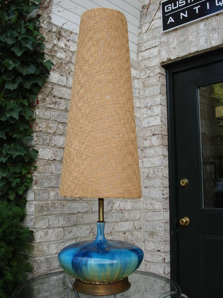 Extra Tall Mid Century Ceramic Lamp At 1stdibs