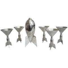 Unique Rocket Design Martini Set (6 pieces)