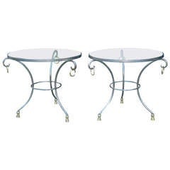 Maison Jansen French Gueridon Side Tables, Pair