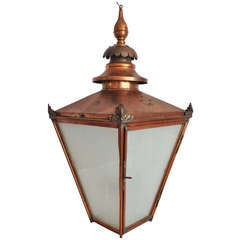 Grand Late 19th Century English Copper Hanging Lantern