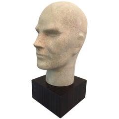 Ivory Shagreen Male Bust on Macassar Base