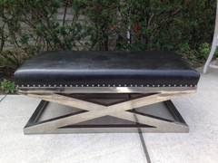 "Decorator ""X"" Bench in Leather"