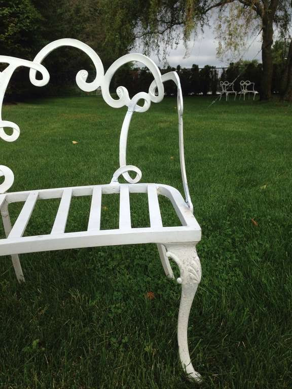 Outstanding Hollywood Regency Curved Garden Benches At 1stdibs