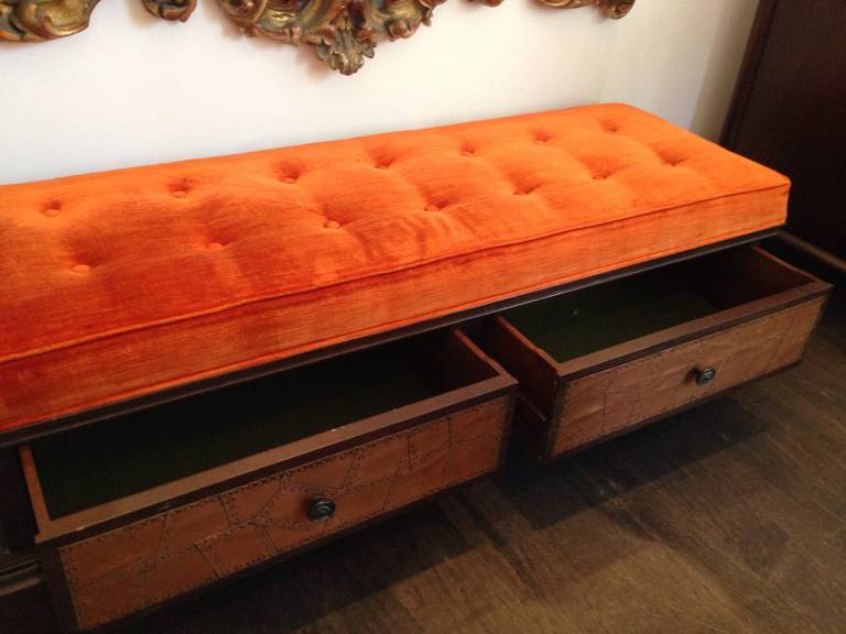 Vintage Storage Bench With Drawers For Sale At 1stdibs