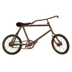 A Turn of the Century Child's Rustic Bicycle Wall Sculpture