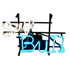 """Say Bull"" Sign - Neon Light Fixture"