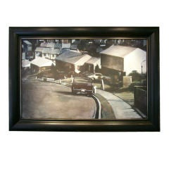 Val Lewton Exceptional Acrylic on Canvas