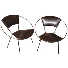 Pair of Circle Chairs Designed by Tony Paul
