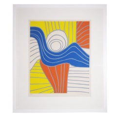 Vibrant Print in Style of Calder
