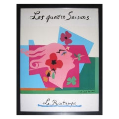 """Le Printemps"" Framed Poster by Yves Saint Laurent"