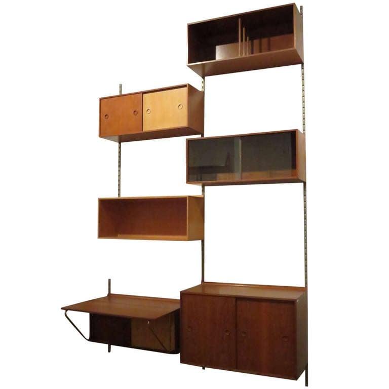 Modular Storage Desk Wall Unit By Finn Juhl For Baker At