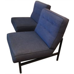 Pair of Slipper Chairs by Florence Knoll