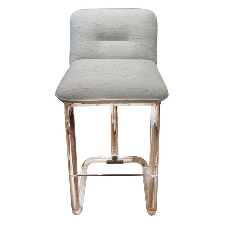 Lucite Bar Stool by Leon Frost at 1stdibs