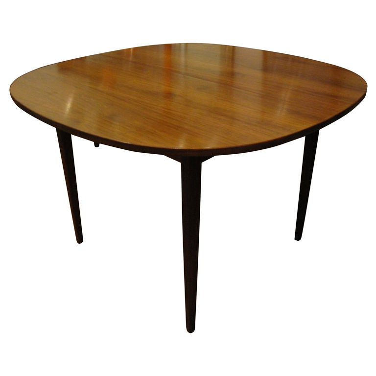 Dining Room Table With Two Leaves Designed By Jens Risom