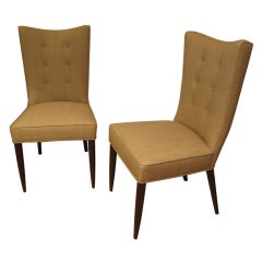 Pair of Slipper Chairs in the Manner of T.H. Robsjohn Gibbings