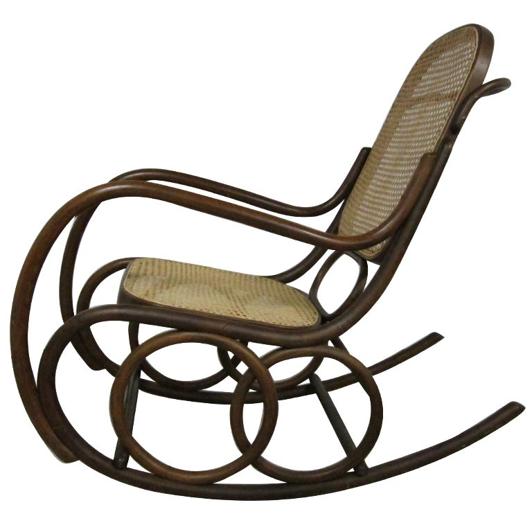 bentwood rocking chair by thonet