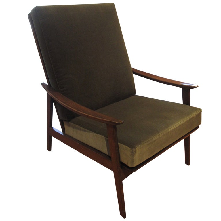 1960 39 S Danish High Back Lounge Chair At 1stdibs