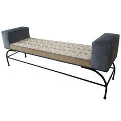 1950s Upholstered Bench