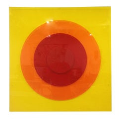 Lucite Pop Art Wall Sculpture - Two Available