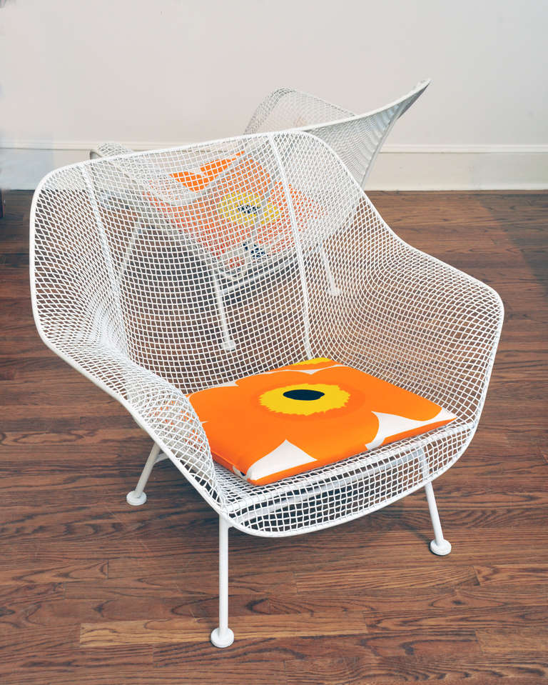 Oversized Mesh Lounge Chair by Russell Woodard at 1stdibs
