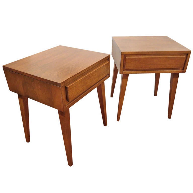 Pair Of End Tables Night Stands By Russel Wright For Conant Ball At 1stdibs