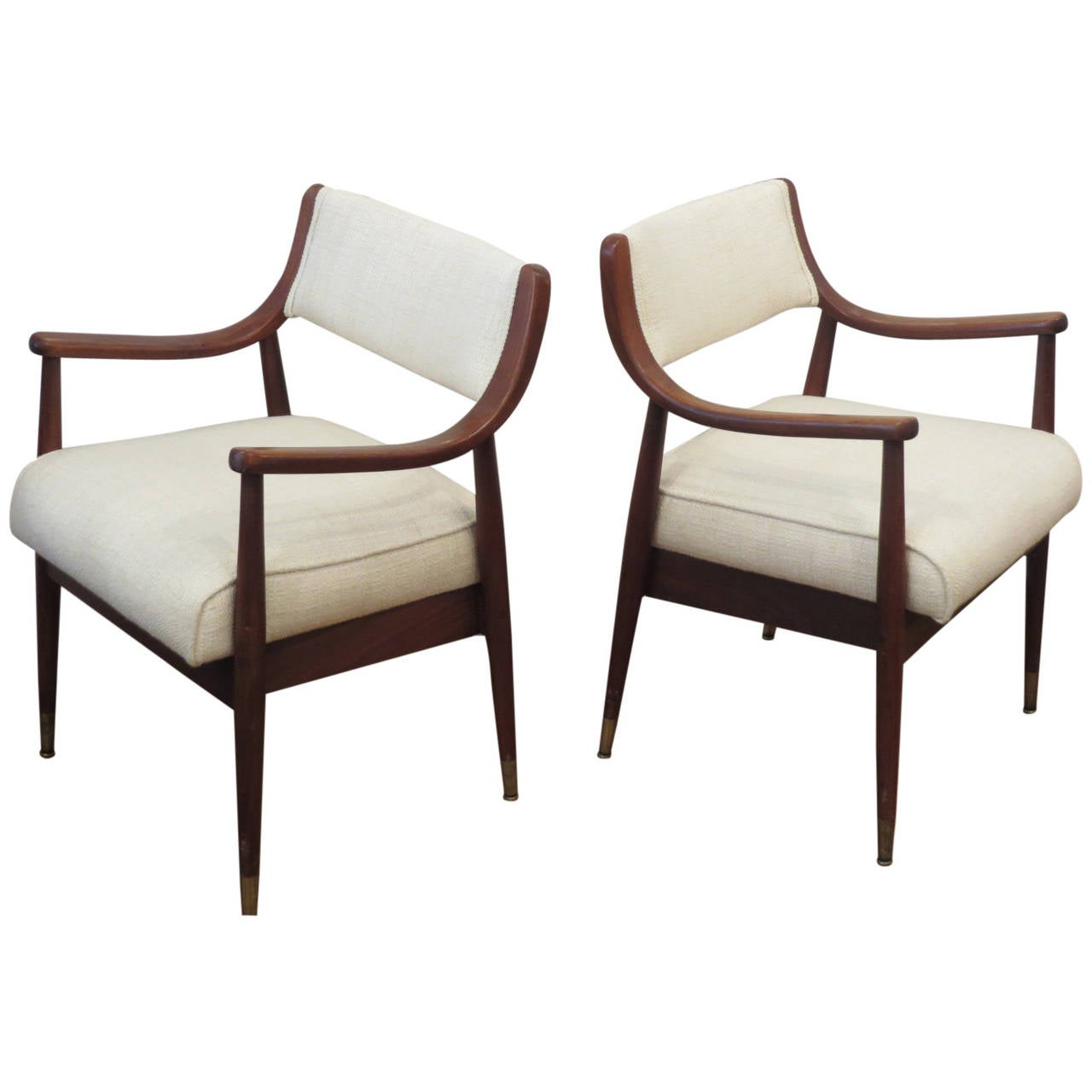 Pair Of Mid Century Chairs At 1stdibs