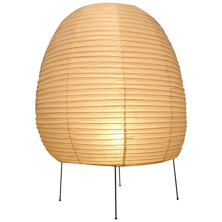 akari floor lamp light sculpture designed by isamu