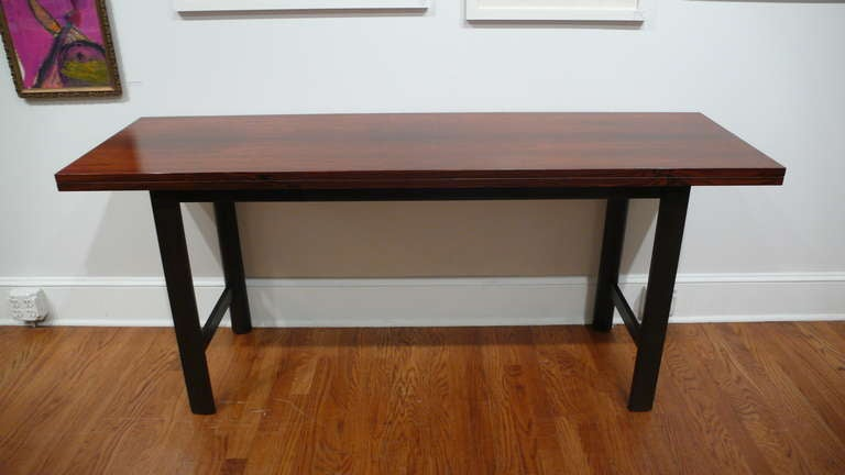 Harvey Probber Flip Top Console Dining Table At 1stdibs