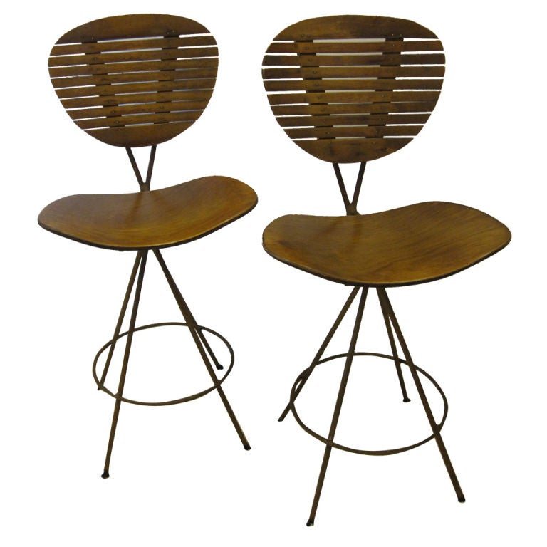 Set of Four Swivel Bar Stools by Arthur Umanoff at 1stdibs : XXX832912762911671 from www.1stdibs.com size 768 x 768 jpeg 54kB